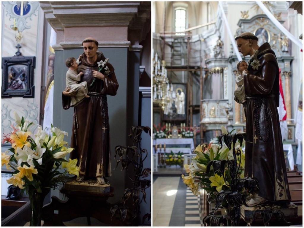Фігура Святого Антонія в костелі Святого Антонія Падуанського у Львові